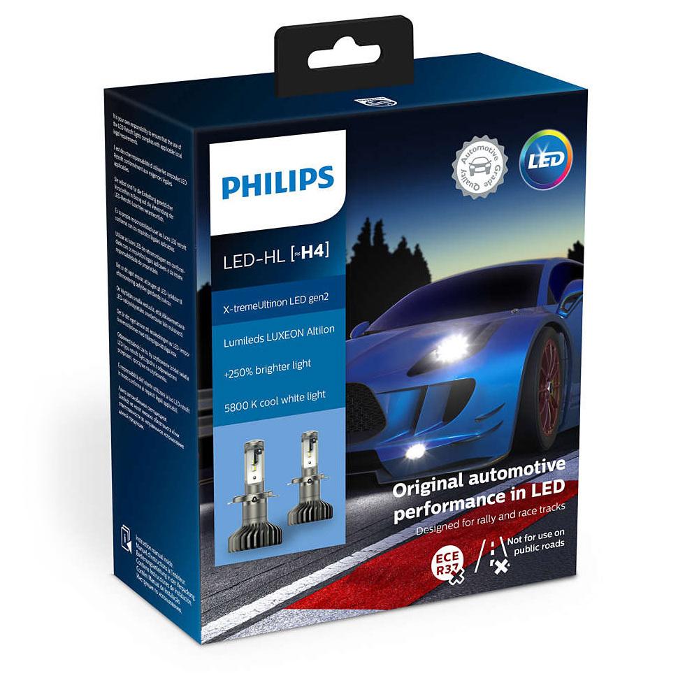 Светодиодная лампа H4 Philips X-tremeUltinon LED gen2 - 11342XUWX2