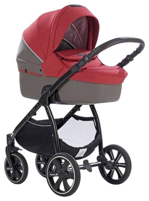 Купить Коляска детская 2 в 1 Noordi Fjordi Melange Sport Leather 662844/SP Красный,