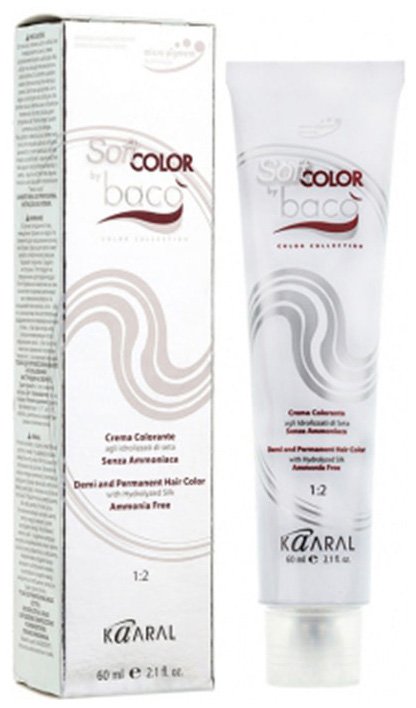 Краска для волос Kaaral Baco Soft Color 4.10 Пепельный каштан 60 мл