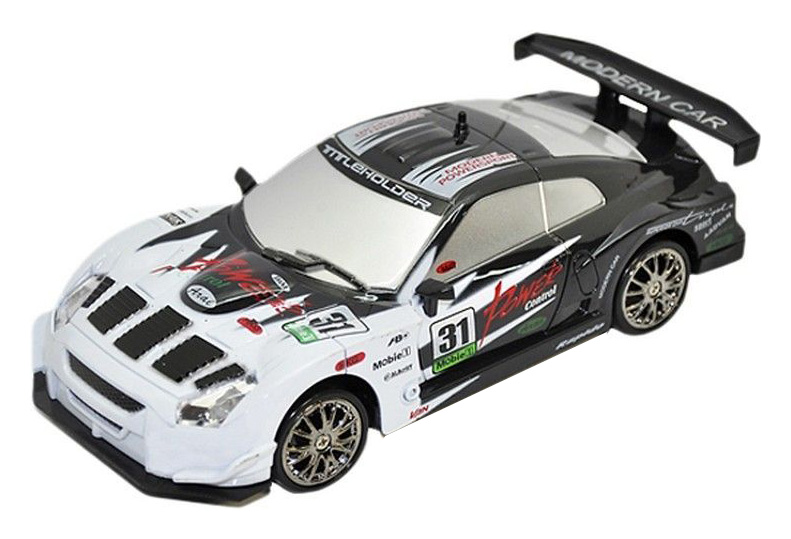 Радиоуправляемая машинка для дрифта HuangBo Toys Nissan Skyline GT-R Белый/Черный