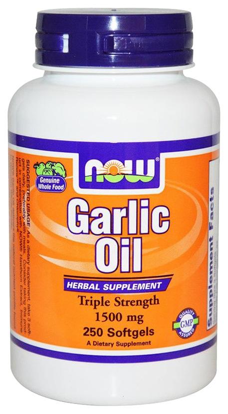 Купить Другие масла и жиры NOW Garlic Oil 250 капс.