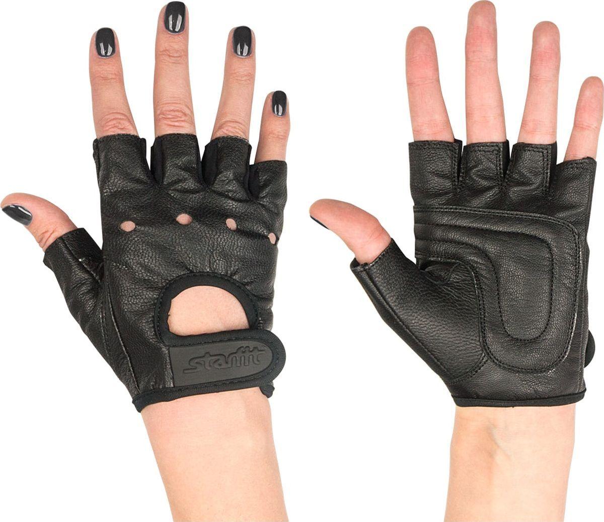 Перчатки для фитнеса StarFit SU 115, черные,