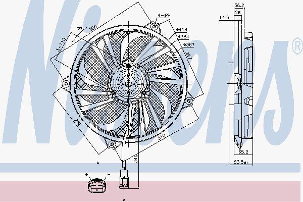 Вентилятор охлаждения двигателя NISSENS 85789