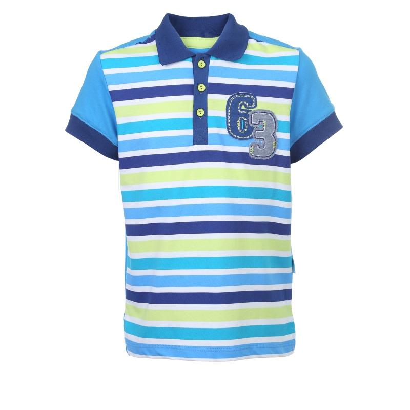 Купить Рубашка-поло Bembi Голубой р.128, Детские блузки, рубашки, туники