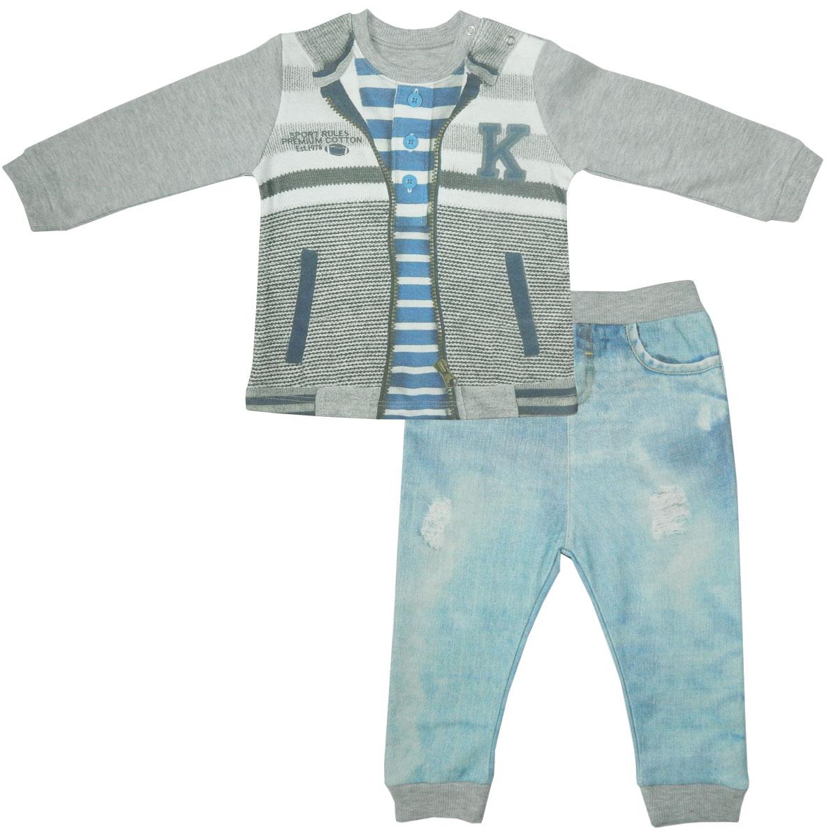 Комплект одежды Папитто для мальчика Fashion Jeans 583-05 р.22-74