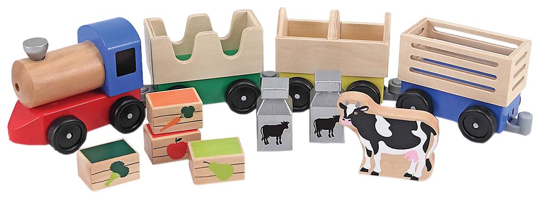 Деревянная игрушка Melissa#and#doug Поезд фермерский Классические игрушки