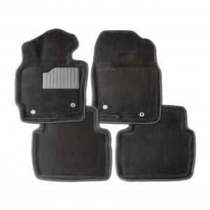 Ворсовые коврики SEINTEX 3D для Toyota Highlander II 2007-2013 / 83716