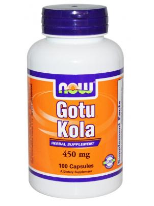 Купить Foods Gotu Kola 450 мг, NOW Foods Gotu Kola капсулы 450 мг 100 шт.