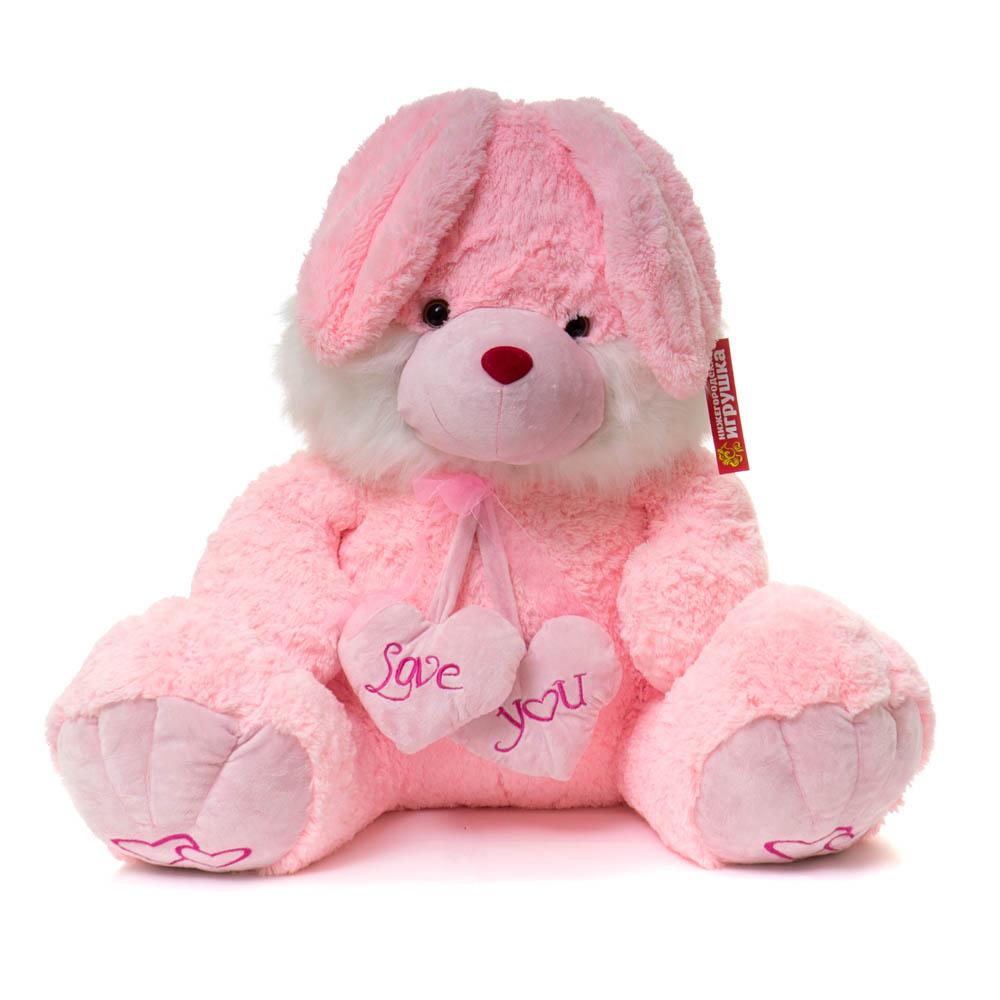 Купить Мягкая игрушка Нижегородская Игрушка Кролик с сердцами См-3992, Нижегородская игрушка, Мягкие игрушки животные