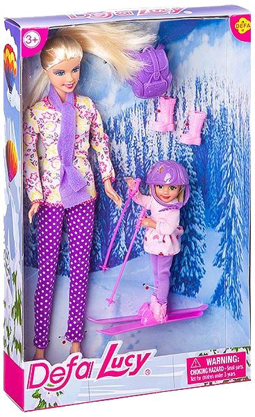 Купить Кукла Дефа Люси с Дочкой Лыжницей Defa Lucy 8356, Классические куклы