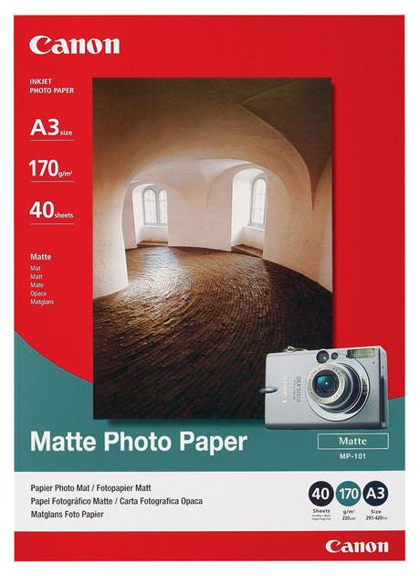 Фотобумага для принтера A4 Canon МР-101170г/кв.м матовое покрытие 50 л мР-101