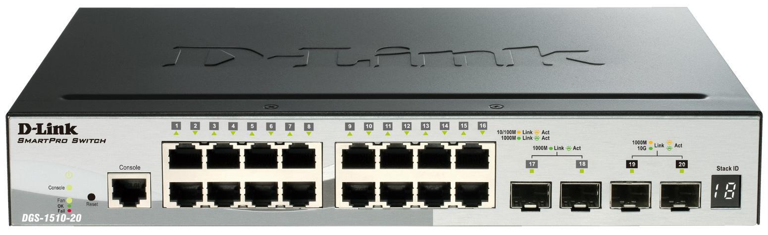 Коммутатор D Link SmartPro DGS 1510 20/A1A