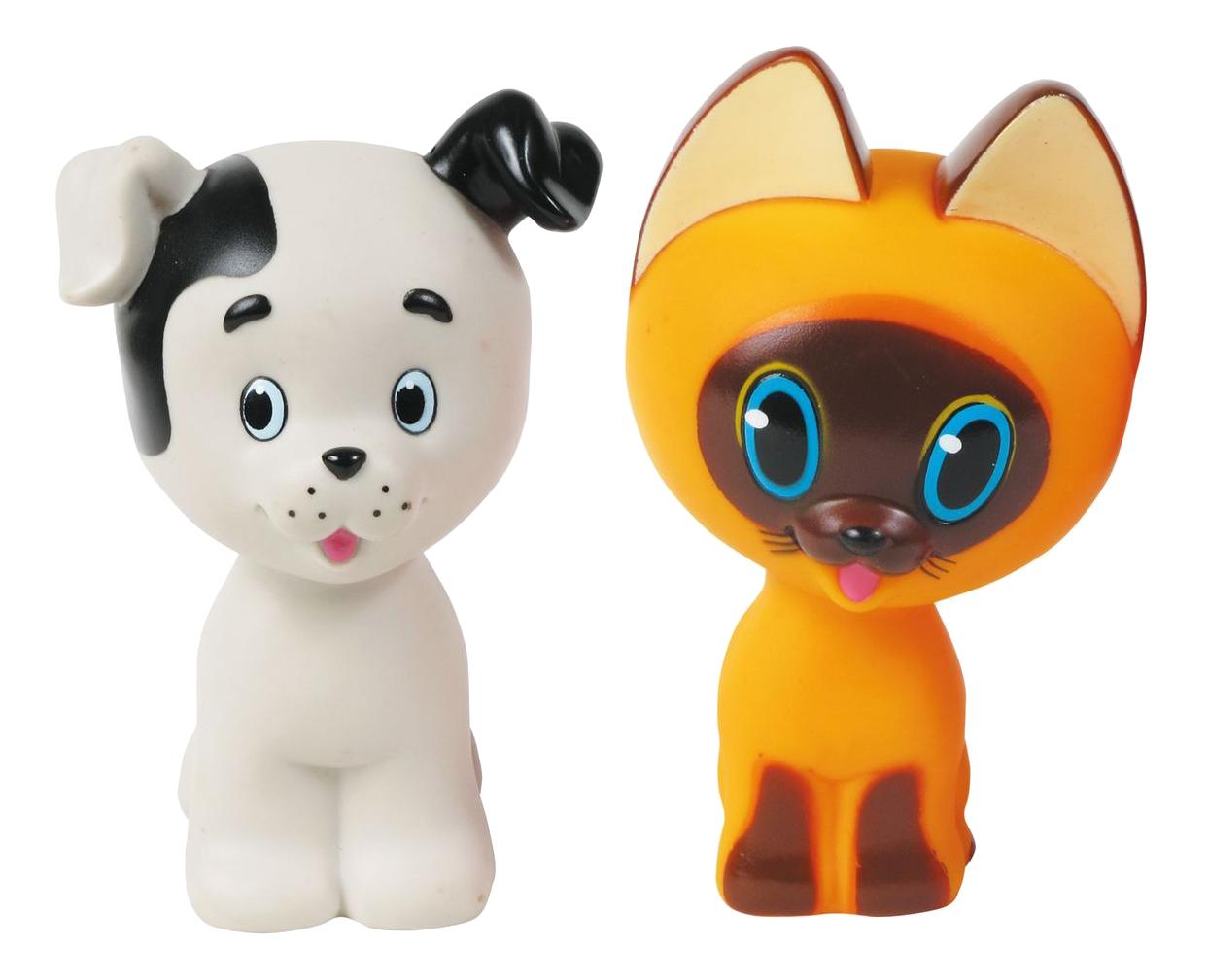 Купить Набор игрушек для ванны Играем Вместе Котенок Гав и щенок 136R-PVC, Игрушки для купания малыша