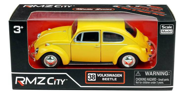 Купить Машинка инерционная Uni-Fortune Volkswagen Beetle 1967 желтая 1:32,