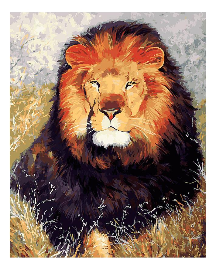 Раскраска по номерам Белоснежка Царь зверей фото