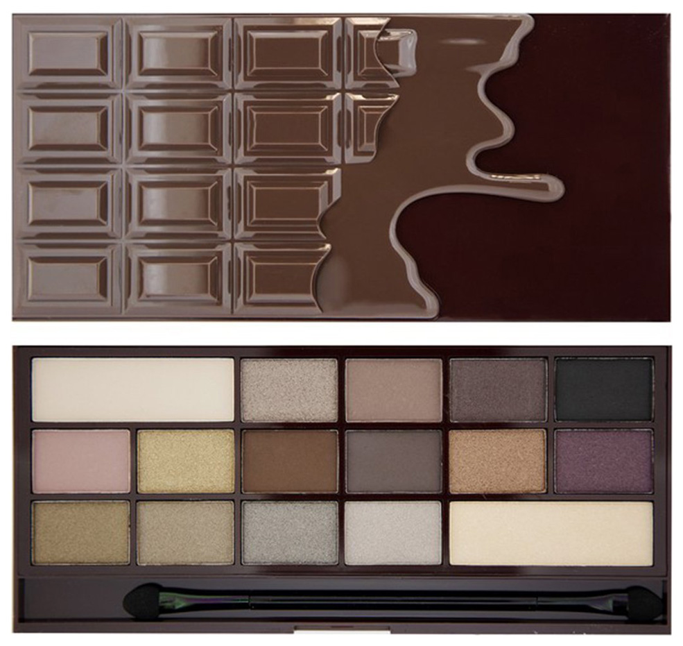 Тени для век Makeup Revolution I Heart Makeup Wonder Palette Death By Chocolate 22 г