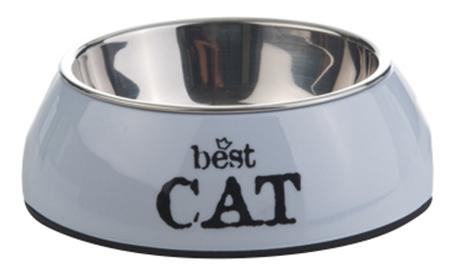 Одинарная миска для кошек Beeztees, сталь, серый,