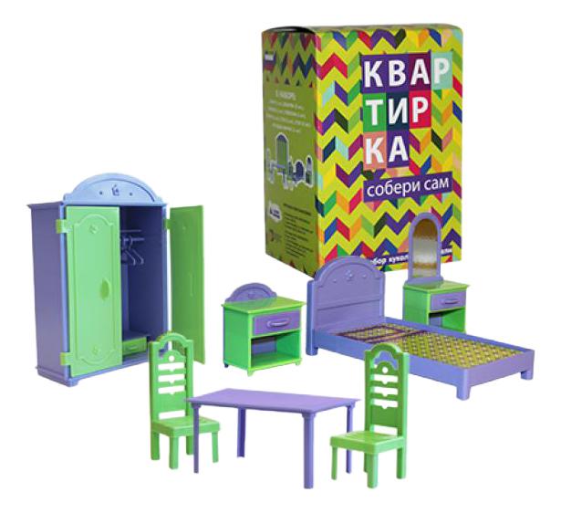 Купить Мебель для кукольного дома ПЛАСТМАСТЕР 22180 Квартирка, Пластмастер, Транспорт для кукол
