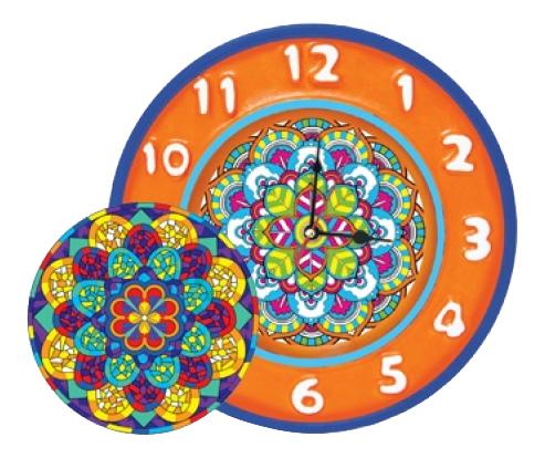Поделка из шар-папье ШАР-ПАПЬЕ Часы Орнамент фото