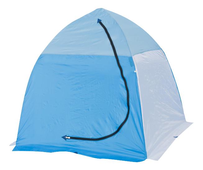 Палатка-автомат Стэк 1 одноместная белая/голубая