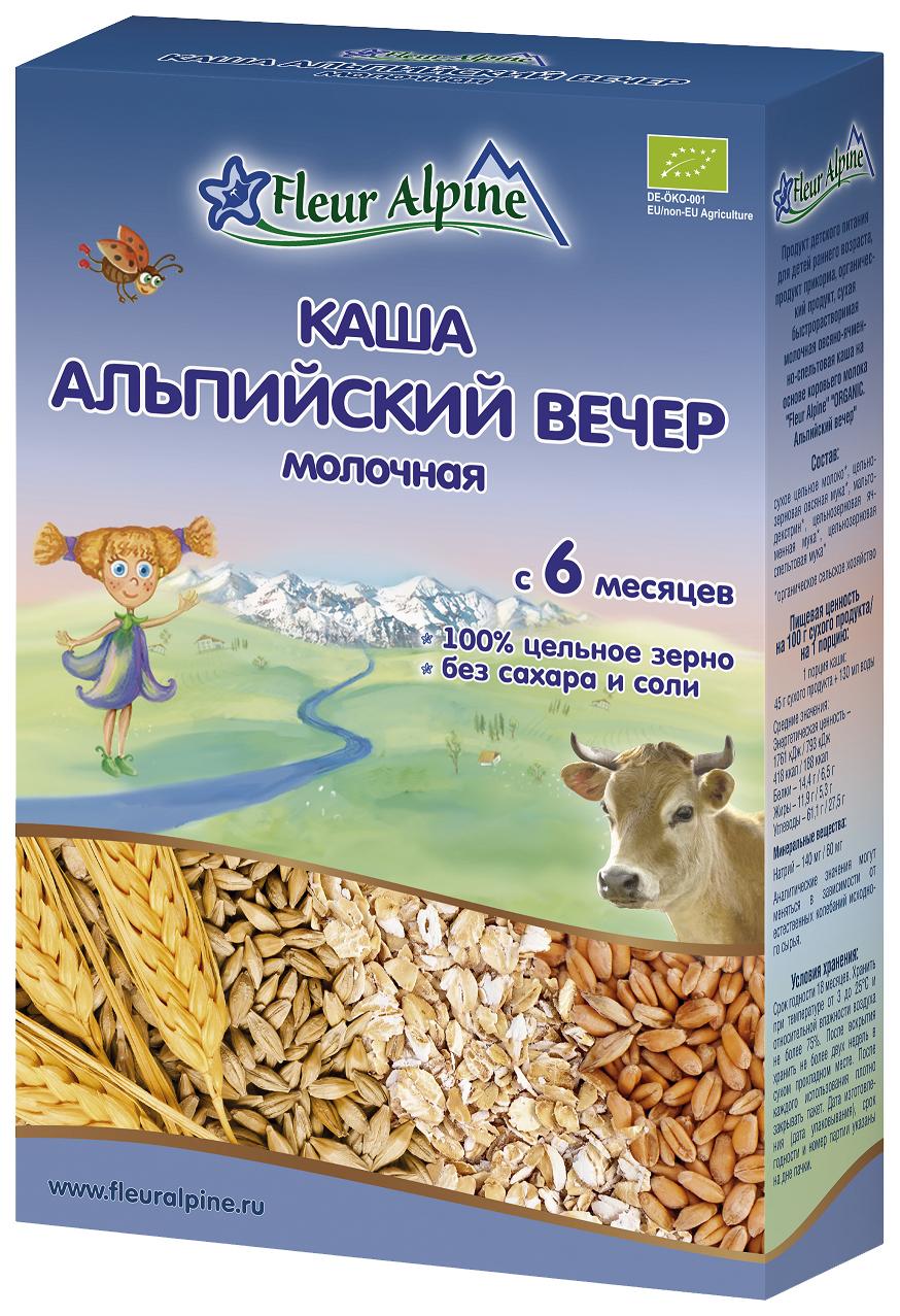 Купить Альпийский вечер 200 г, Молочная каша Fleur Alpine Organic альпийский вечер с 6 мес 200 г, Детские каши