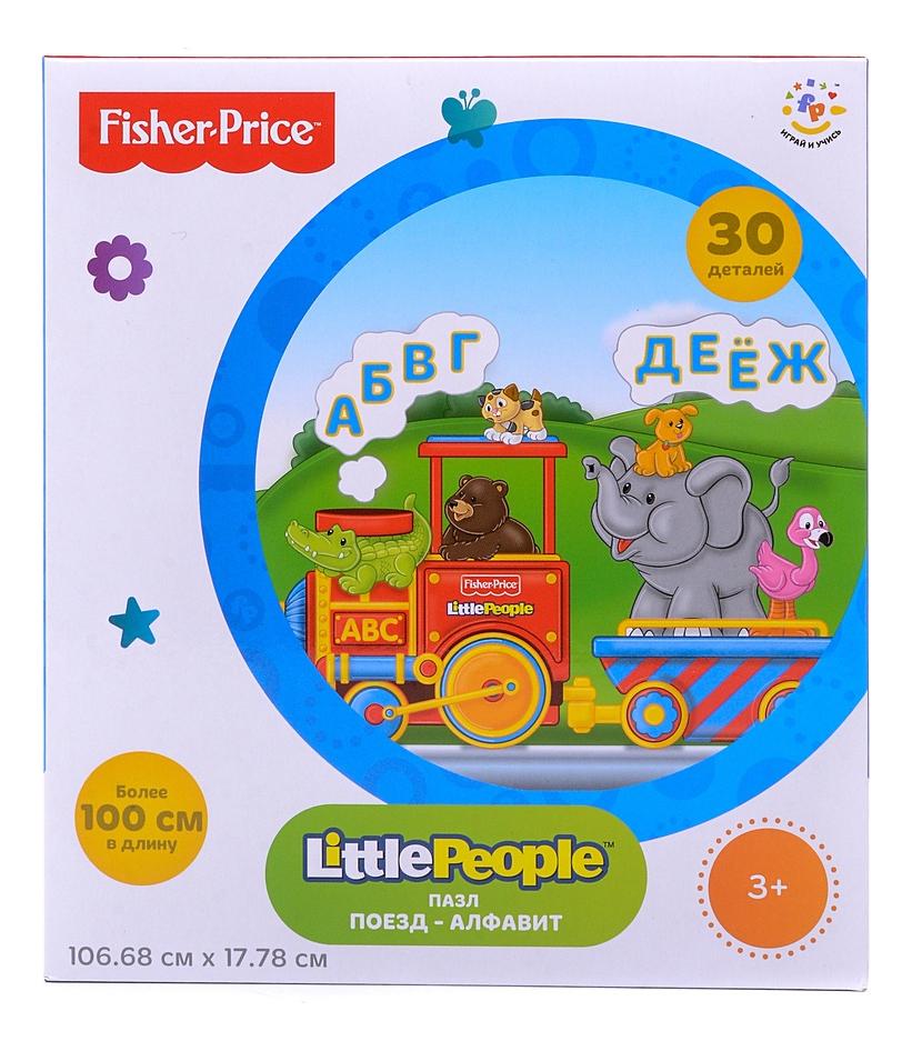 Пазл Fisher-Price Поезд, Mattel, Пазлы  - купить со скидкой