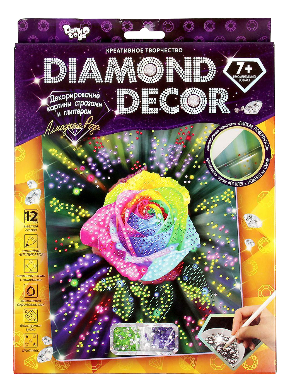 Алмазная живопись Danko Toys Diamond Decor Роза DD-01-05