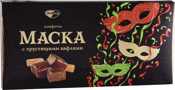 Набор конфет маска Красный Октябрь с хрустящими вафлями 300 г фото