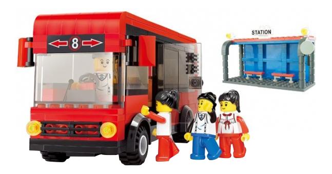 Пластиковый конструктор Городской автобус 318 дет Shenzhen Toys Г35881 фото