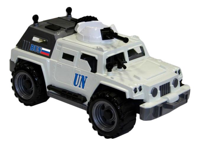 Купить Джип миротворец, Игрушечный Джип Миротворец Нордпласт Р24766, НОРДПЛАСТ, Военный транспорт