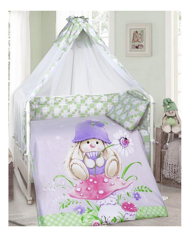 Купить Комплект в кроватку Мона Лиза Зайка Гном 8 предметов, MONA LIZA, Комплекты детского постельного белья