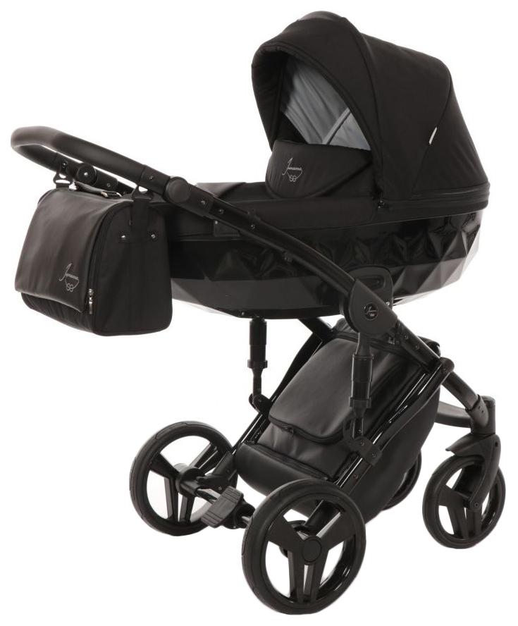 Купить Коляска 2 в 1 Junama Diamond Черная, Детские коляски 2 в 1