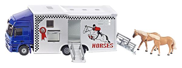 Купить Спецтехника Siku Перевозчик Mercedes-Benz Actros для лошадей 1942, Строительная техника