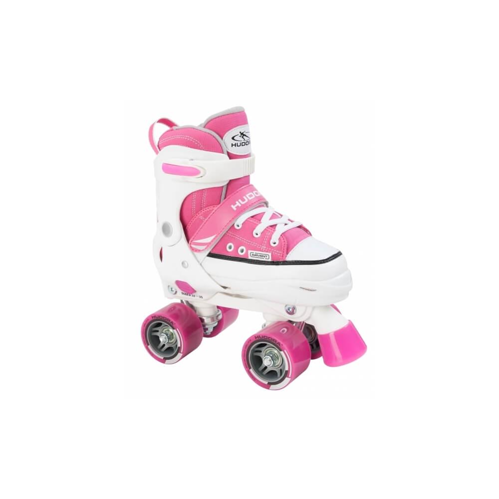 Раздвижные роликовые коньки HUDORA Roller Skate розовые
