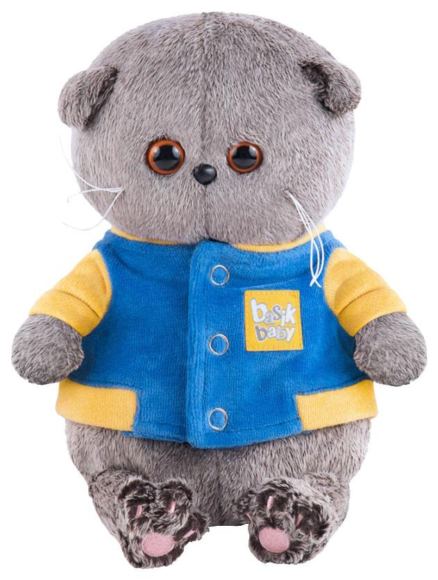 Мягкая игрушка BUDI BASA Басик Baby в синей куртке с желтой отделкой, 20 см фото