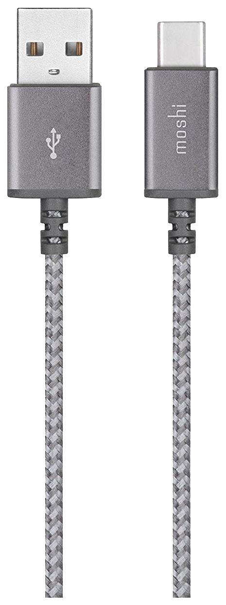 Кабель Moshi Integra USB-C to USB-A (1,5 метра) серый