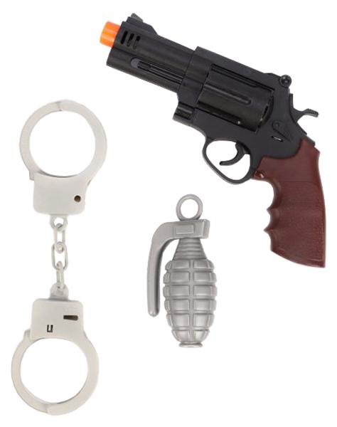 Купить Набор полицейского Наша игрушка револьвер, наручники, граната,