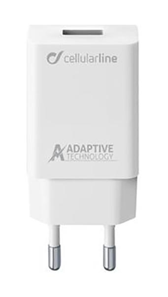 Сетевое зарядное устройство CELLULAR LINE ACHSMUSB15WW USB Adaptive Fast 15W, White (ACHSMUSB15WW)