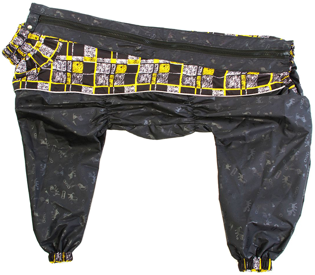 Дождевик для собак OSSO Fashion, со вставками, мужской, черный, 40-2