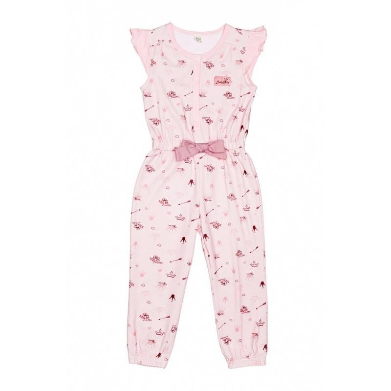 Купить 45-30К, Комбинезон Lucky Child, цв. розовый, 128 р-р, Повседневные комбинезоны для девочек