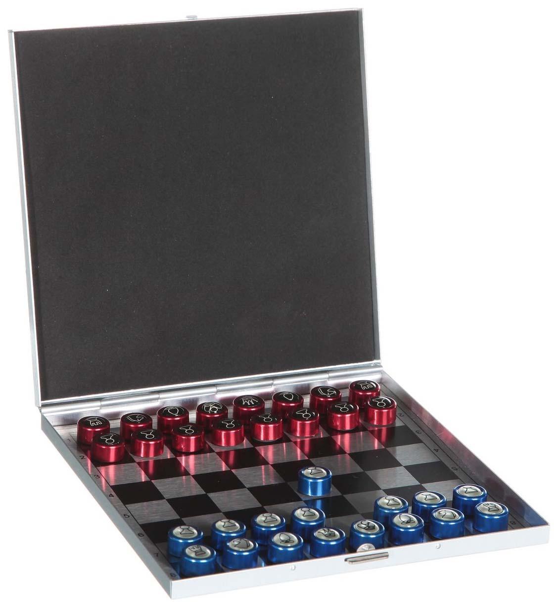 Шашки, шахматы 13.5 х 13.5 см