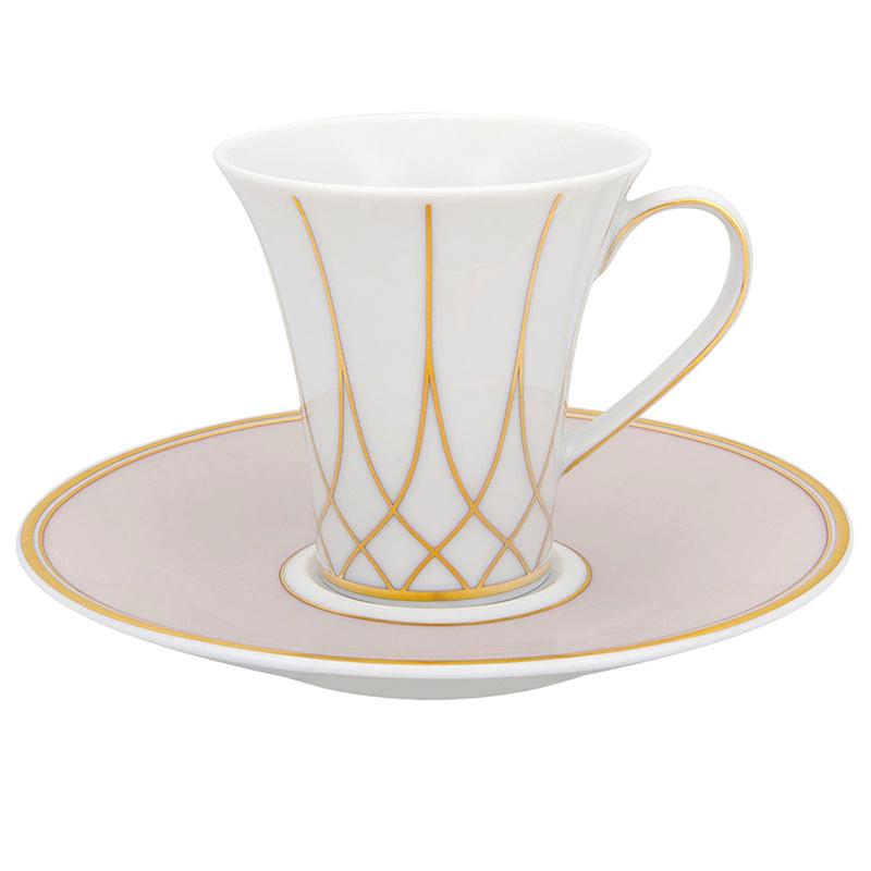 Чашка кофейная с блюдцем 92мл Vista Alegre TERRACE, цвет белый, золотой