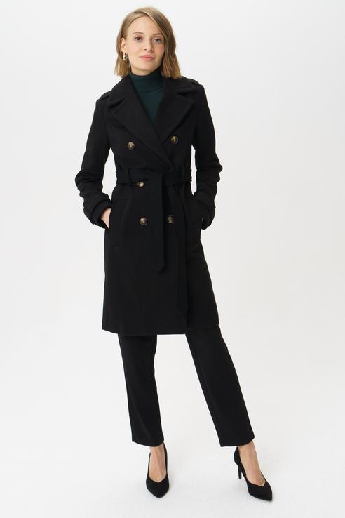Пальто женское Y.A.S 26017619 черное S.