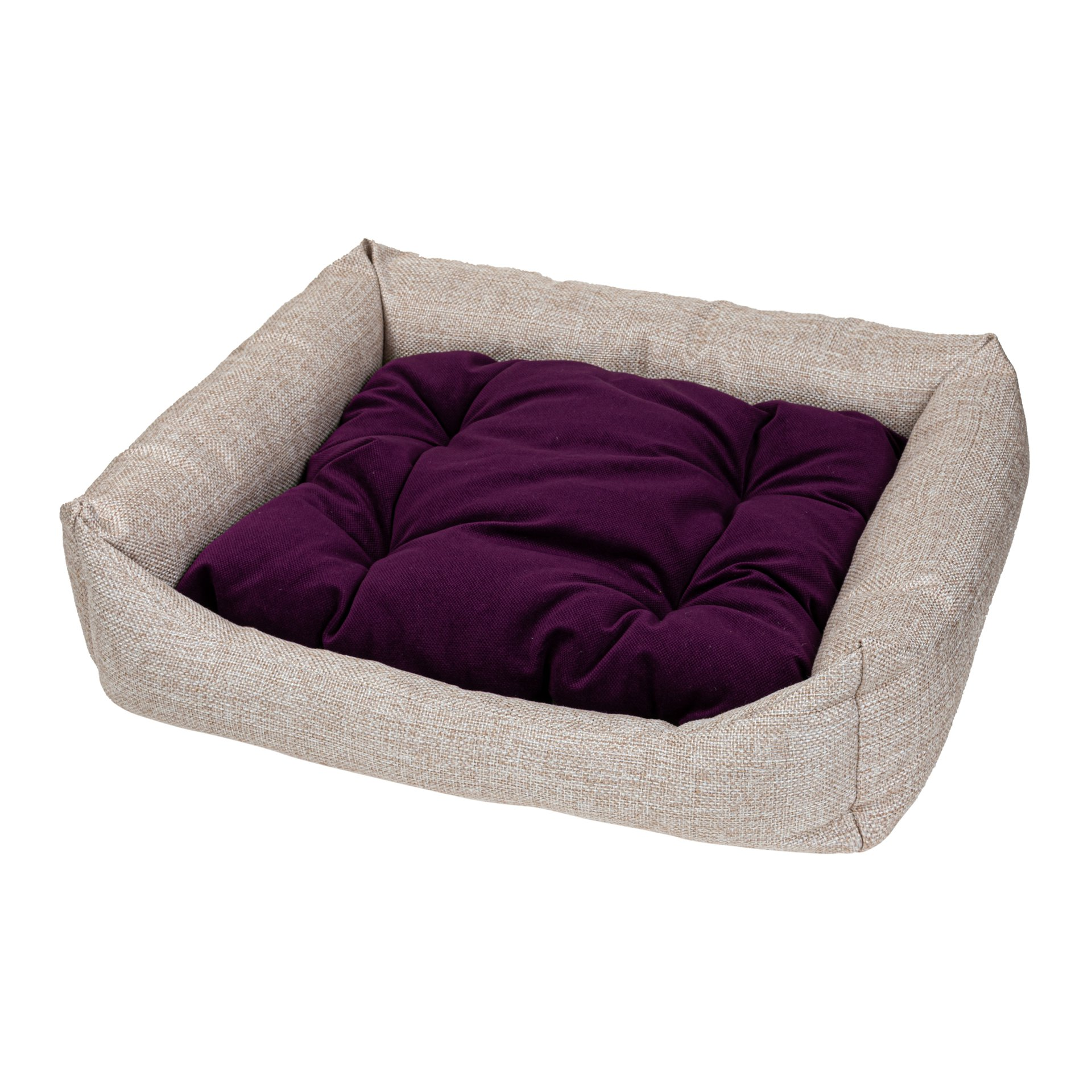 Лежак для собак Xody Люкс №6, флок, VIOLET, 100х90х28 см