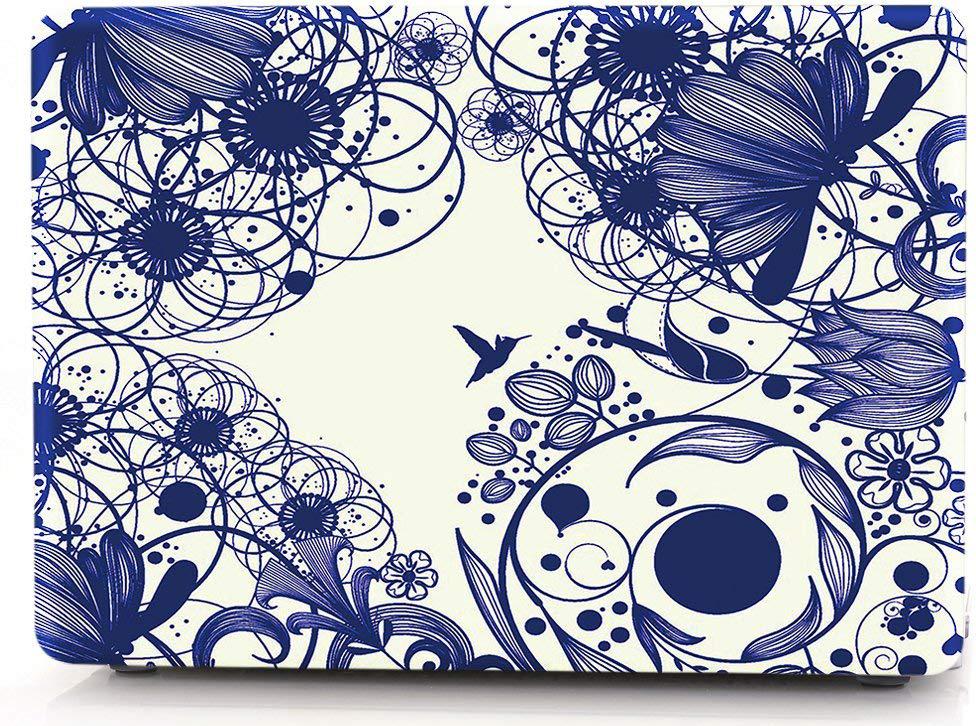Накладка i-Blason Cover для MacBook Pro 13 Retina (Blue Line Flowers) фото