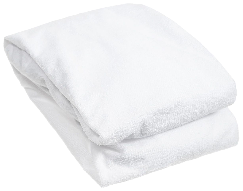 Наматрасник для овальной кроватки Baby Nice, белый