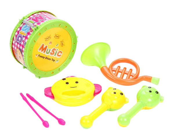 Купить Набор музыкальных инструментов, 4 шт., BOX 17x15x9 см, арт. 6566Q-4, Shantou Gepai, Детские музыкальные инструменты