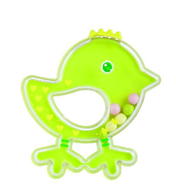 Купить Погремушка Canpol Птичка арт. 2/189, 0м+, цвет: зеленый, Canpol Babies,