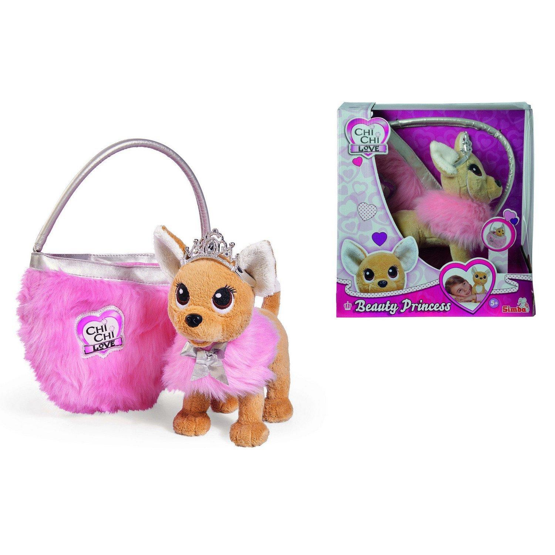 Мягкая игрушка CHI CHI LOVE 5893126129 Собачка Принцесса с пушистой сумкой фото