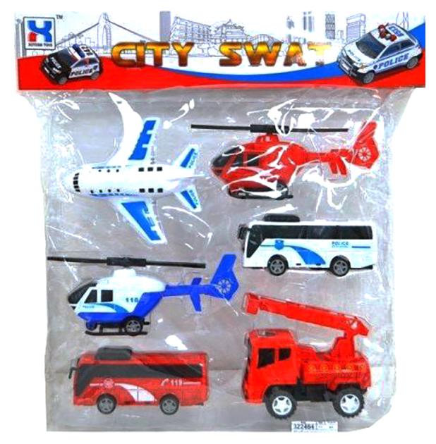 Купить Набор машинок Рыжий кот Спасетельная техника, 6 штук, Спецслужбы